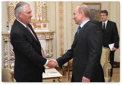Rex Tillerson with Putin